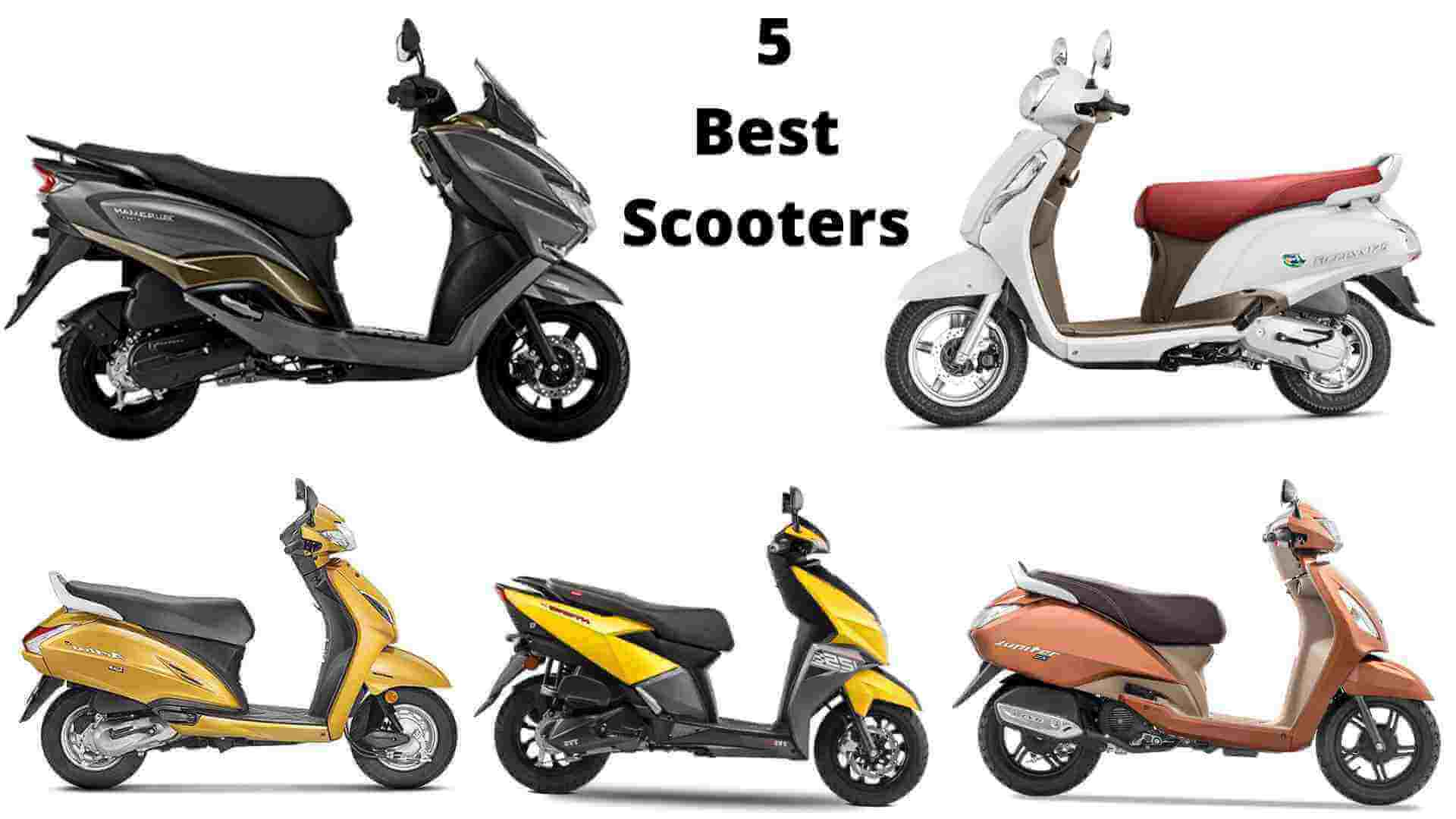 Top 5 best scooters to use in the motorcycle market