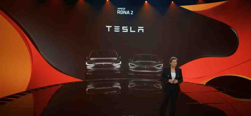 The integrated AMD GPU and APU are at the PS5 level of the System in Tesla Model S and Model X